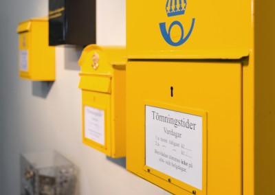 Postlådor på Postmusuem
