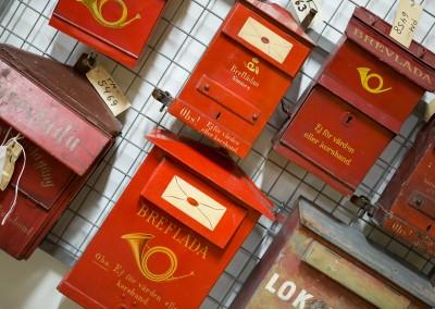 Röda brevlådor