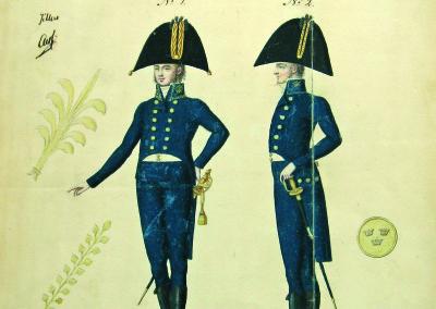Ritning paraduniform 1817