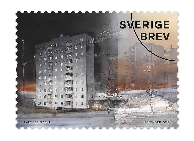 Lars Lerin frimärke