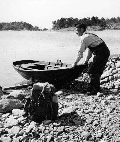 Syd 36: Båten dras upp.