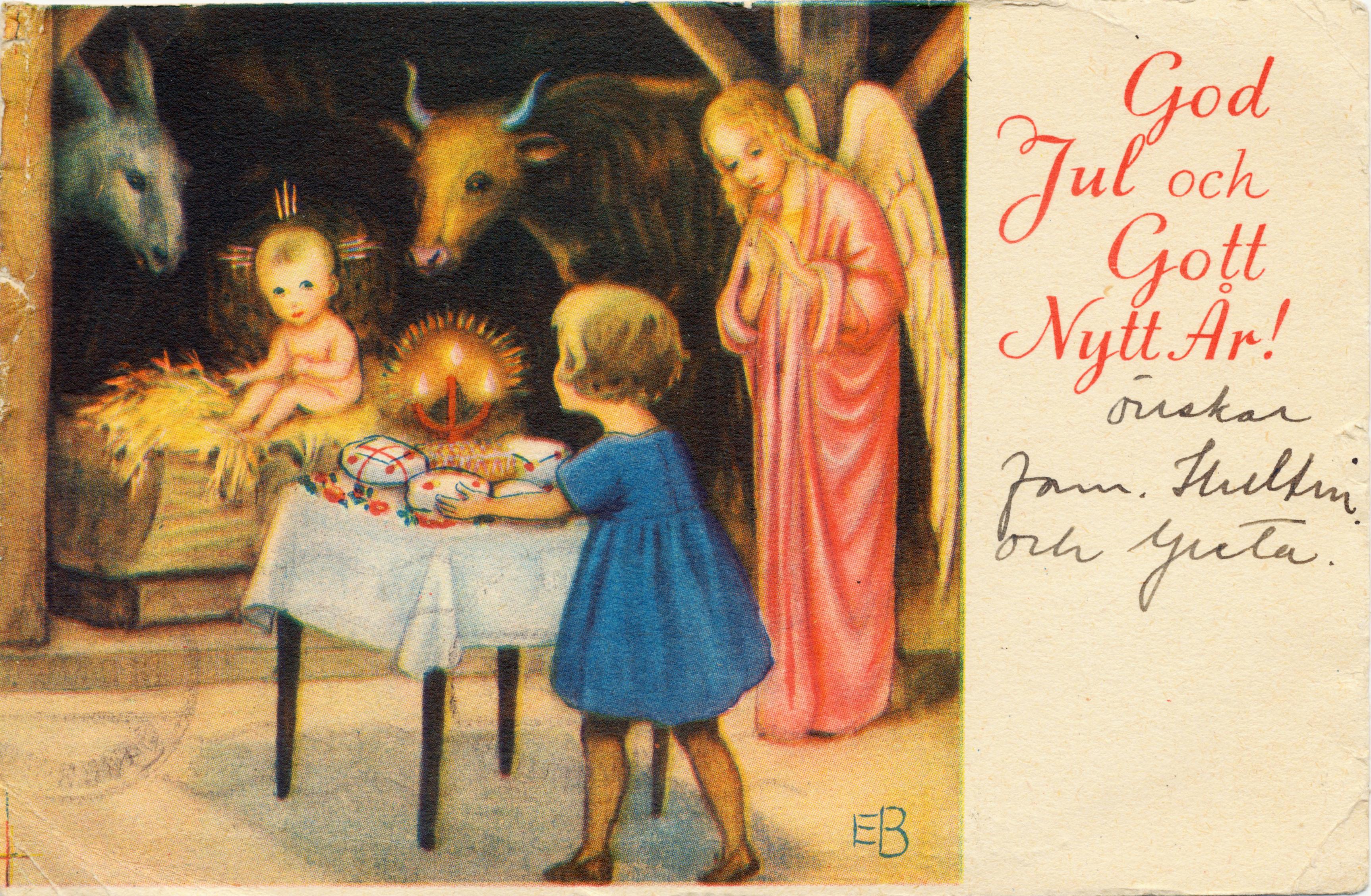 jesusbarnets födelsedag Julkort arkiv   Postmuseum jesusbarnets födelsedag
