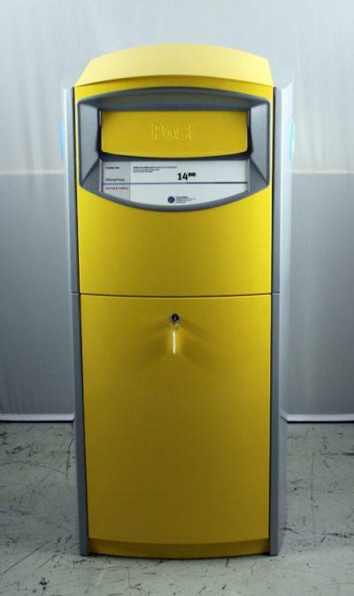 Brevlåda 46 Ny modell i gult och silver