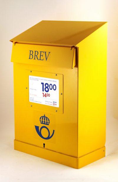 Brevlåda 43 Posten slutar att tillverka brevlådor